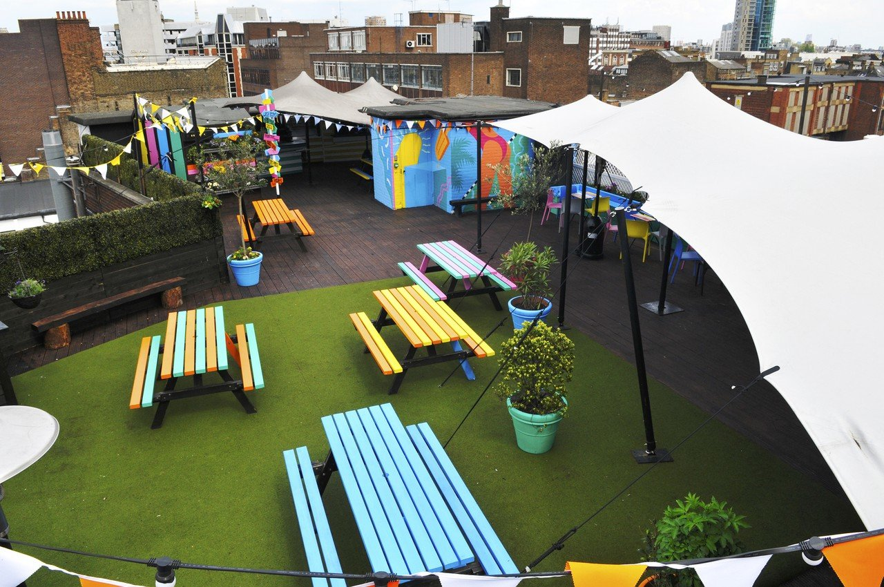 London workshop spaces Dachterrasse Queen of Hoxton - Rooftop image 0