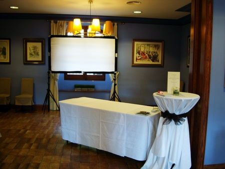 Barcelone seminar rooms Restaurant Mas Corts - Sala Azul image 7