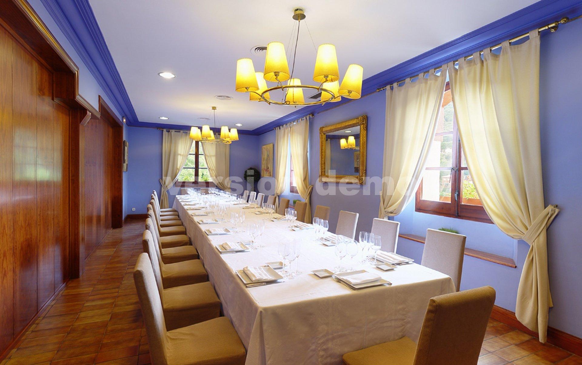 Barcelone seminar rooms Restaurant Mas Corts - Sala Azul image 0