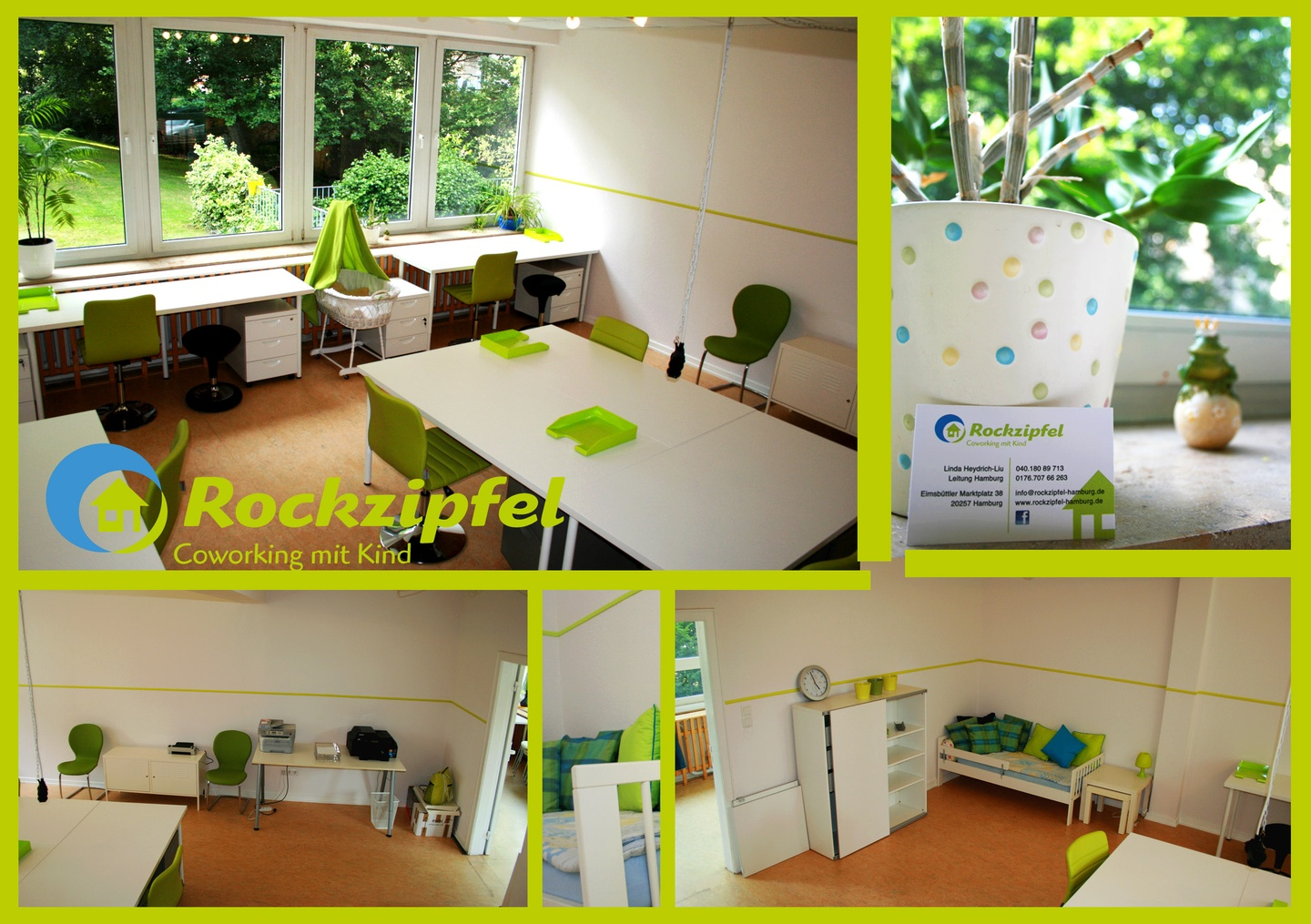 Hamburg training rooms Espace de Coworking Rockzipfel - Coworking with Kids @ Hub3 image 2