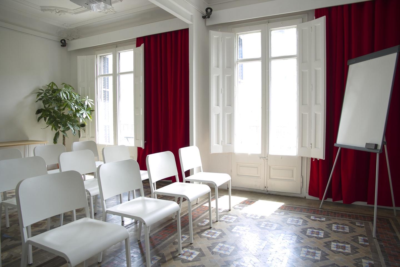 Barcelona workshop spaces Screening room Sala Mosaic image 1