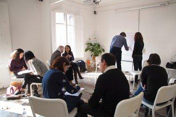 Barcelona workshop spaces Screening room Sala Mosaic image 4
