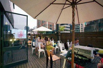 Hong Kong workshop spaces Terrasse The Hive Wan Chai - Roof Deck Terrace image 0