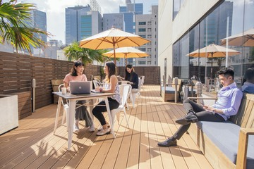 Hong Kong corporate event venues Terrace The Hive Wan Chai - Roof Deck Terrace image 6