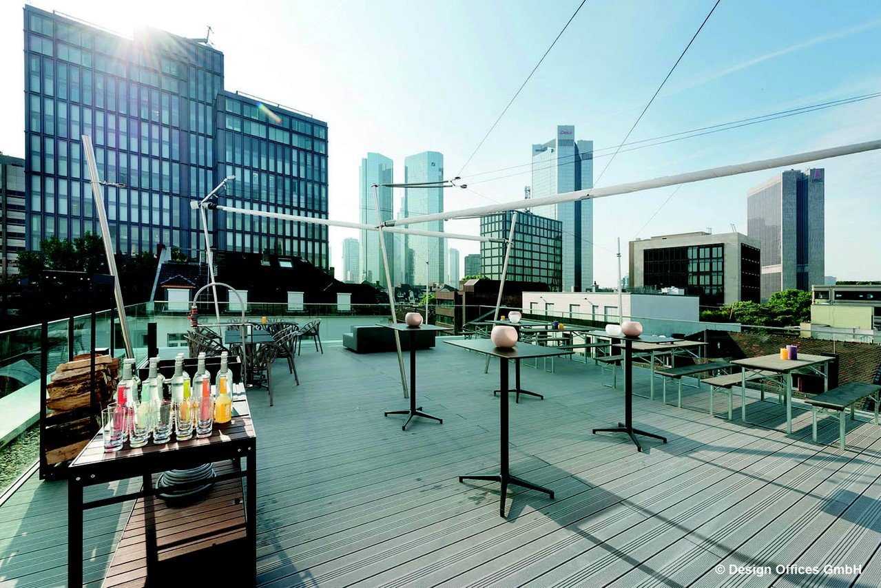 Francfort corporate event venues Rooftop Design Offices Frankfurt Westend - Rooftop image 4