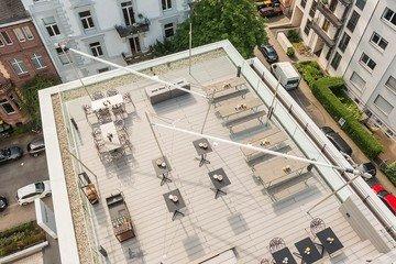 Francfort corporate event venues Rooftop Design Offices Frankfurt Westend - Rooftop image 1