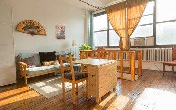 NYC workshop spaces Loft Brooklyn 2 Story Loft: Bright upstairs, Dark downstairs, Rooftop image 4
