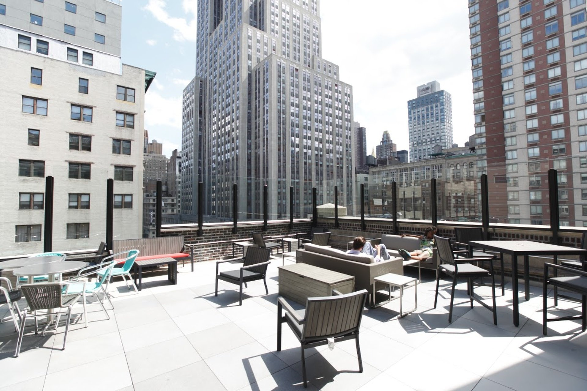 NYC corporate event venues Rooftop Jay Suites  34th Street - Rooftop terrace image 0