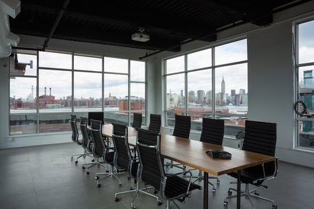NYC training rooms Salle de réunion Green Desk - Skyline Meeting Room image 0