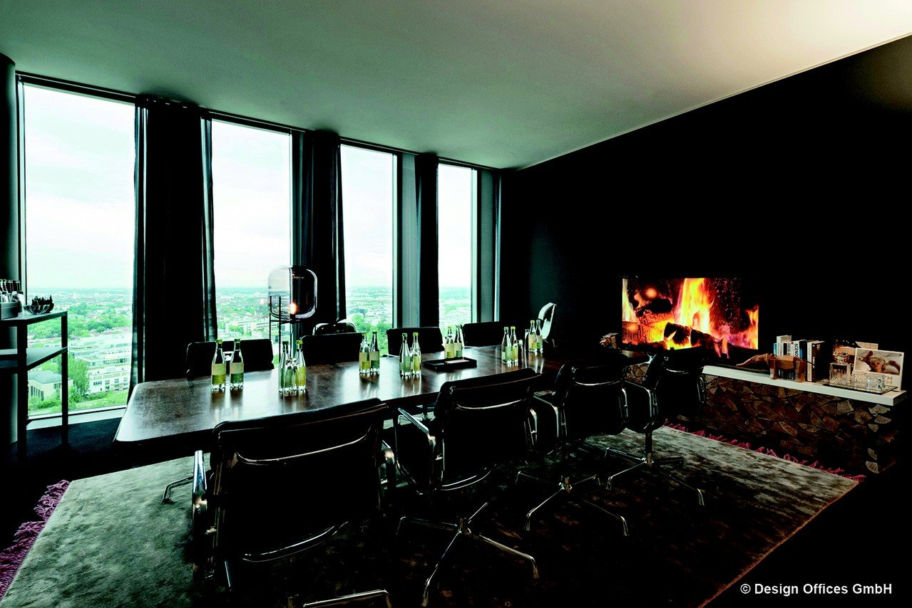 Munich Workshopräume Meeting room Design Offices Highlight Towers - Fireside Room image 0