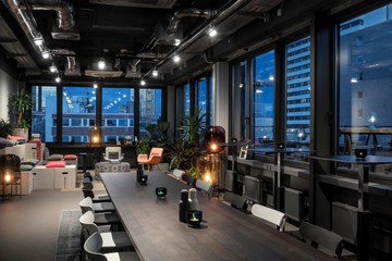 Frankfurt am Main Seminarräume Meetingraum Design Offices Frankfurt Wiesenhüttenplatz - Rooftop Lounge mit Terrasse image 2