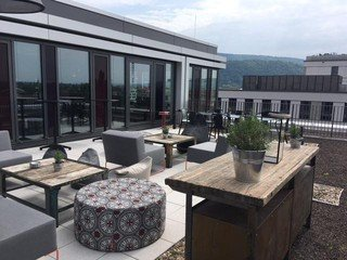 Mannheim seminar rooms Meeting room Design Offices Heidelberg Colours Terrasse image 1