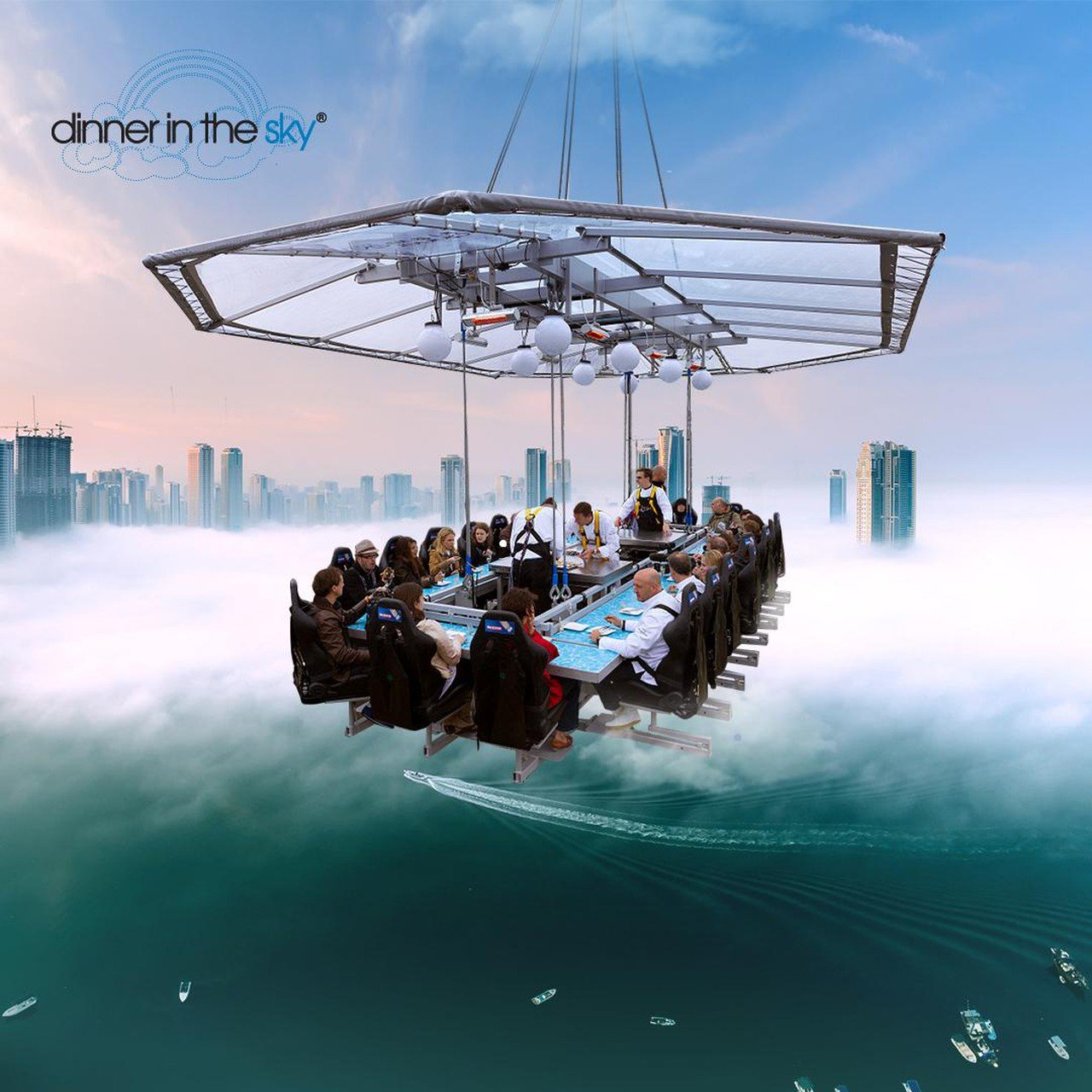 Hamburg corporate event venues Besonders Dinner in the sky image 3