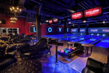 Rest der Welt corporate event venues Partyraum Bowlmor Chelsea Piers image 1