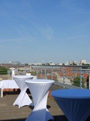 Berlin corporate event venues Rooftop Charming roof terrace with amazing view image 6