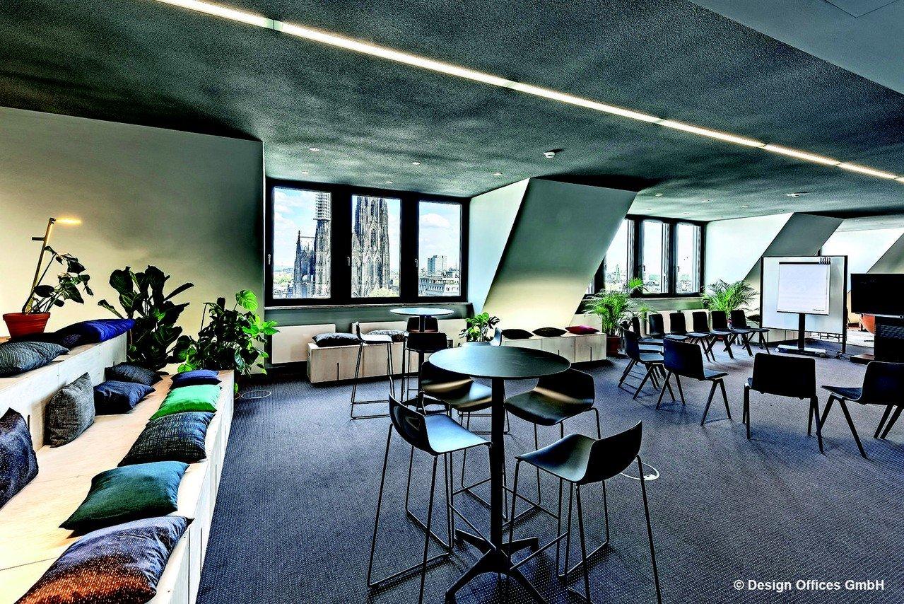 Cologne Schulungsräume Salle de réunion Design Offices Köln Dominium - Rooftop Lounge image 1