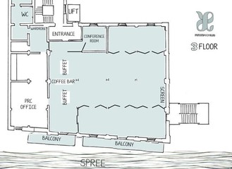 Berlin  Salle de réunion Private Roof Club Spree, 3Floor image 0
