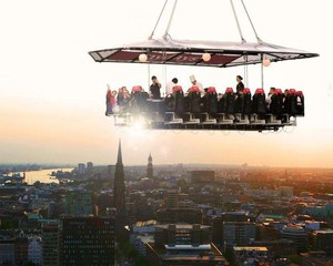 Hannover corporate event venues Unusual Dinner in the sky image 1