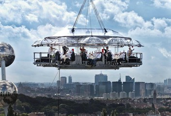 Hannover corporate event venues Unusual Lounge in the sky image 2