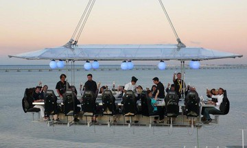 Munich corporate event venues Unusual Dinner in the sky image 2